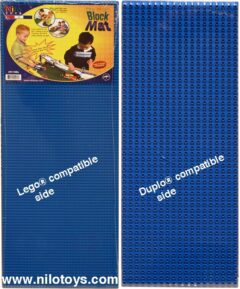 Two Blue double-sided Lego Duplo mats