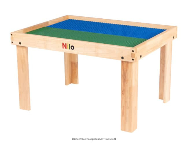 Small Activity Table showing grn/blue baseplates