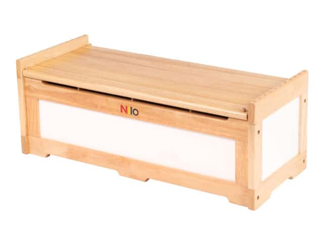 Nilo Toy Chest and Bench for toy storage and kids seat.