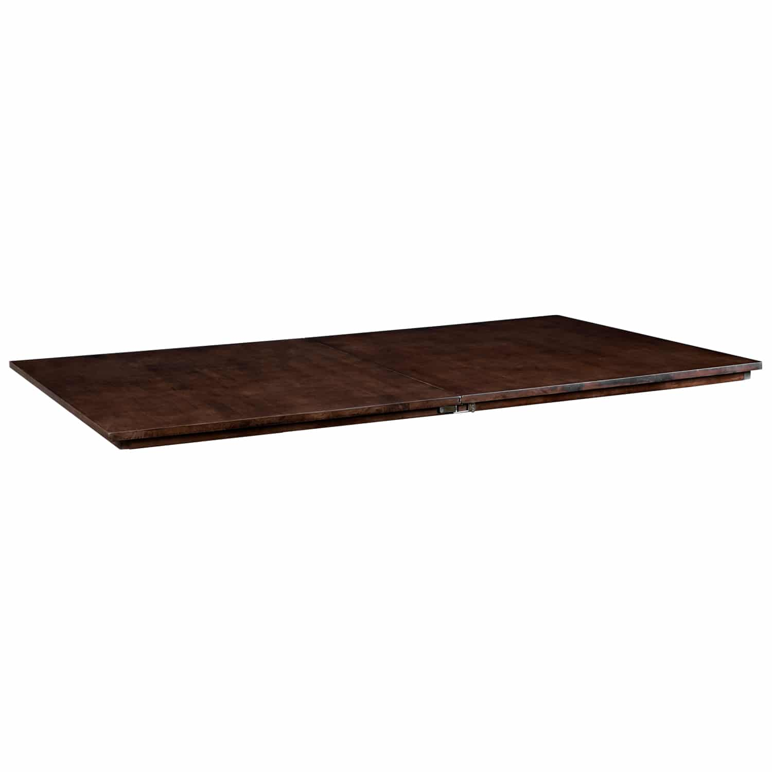 The Nilo Dining topper shown in dark walnut stain