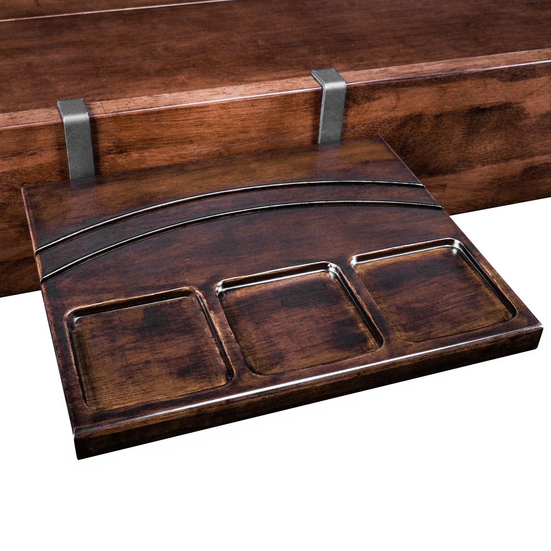 flip shelf, card holder, trays, shelf, tray