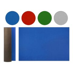 a roll-out soft felt board gaming mat table topper for board games which is also known as a board gaming table topper